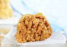 No flour, no sugar, no baking required! Pumpkin oatmeal cookies: http://chocolatecoveredkatie.com/2012/08/20/no-bake-pumpkin-oatmeal-cookies/