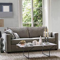 West Elm: Henry Sofa (stock fabric, dove gray)