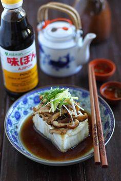 steamed seabass with ponzu, sesame oil, shiitake mushrooms, ginger & scallion