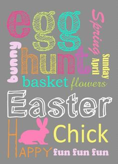 Easter Subway Art {free printable}