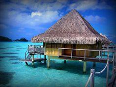 Bora Bora (Tahiti) the most romantic island located in the French Polynesia