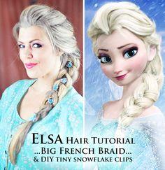 ELSA HAIR TUTORIAL-Big French Braid