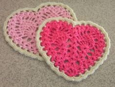 heart crochet hot pad