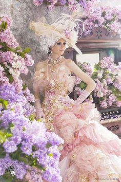 wedding dressses, fashion, pink wedding dresses, de libero, dress wedding, romantic weddings, gown, stella de, princess wedding dresses