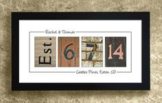 PERSONALIZED WALL DECOR - Frame Your Date, Wedding Gift, Anniversary Gift Idea on Etsy, $29.95 WANT!!!!!!