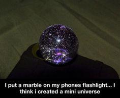 A mini universe...