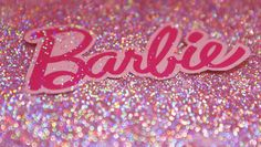 AH glitter! Barbie party decor!