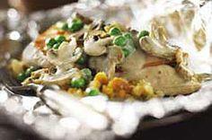 Foil-Pack Chicken & Mushroom Dinner Recipe - Kraft Recipes