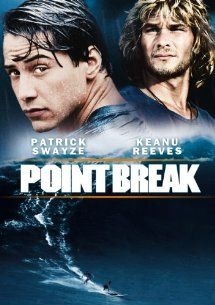 Point Break (1991) with Keanu Reeves and Patrick Swayze. (Image from Amazon)