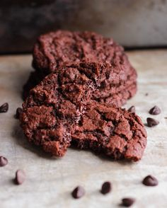 Double Chocolate Chip Cookies - Double Chocolate Chip Cookies are a real classic and this recipe will not disappoint – they are moist chewy and a wonderful treat for chocolate lovers everywhere!