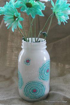 paint mason jar