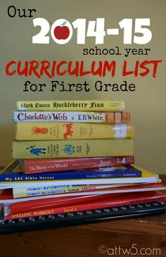 Our 2014-15 Homeschool Schedule and Curriculum List #BTS #homeschool #homeschoolschedule #1stgrade #kindergarten