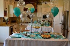cute baby shower set-up