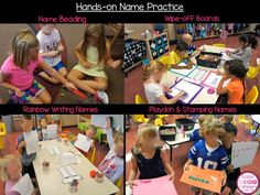 Lots of hands-on activities for practicing names