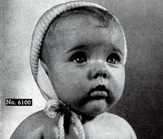 Baby Hat knit pattern from Jack Frost Baby Book, originally published by Jack Frost Yarn Company, Volume 61, in 1958.