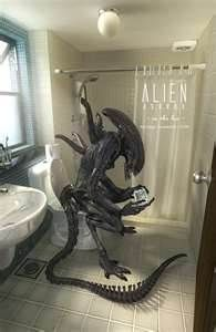 Aliens in the bathroom.