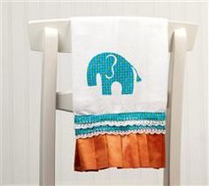 Create this trendy burp cloth for the new baby!