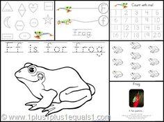 letter, frog, printabl
