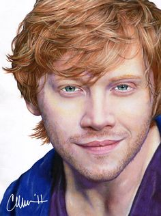 Rupert Grint - colored pencil drawing by thisdoesnotsuck.tumblr.com
