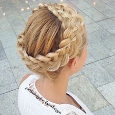 Amazing five strand crown braid