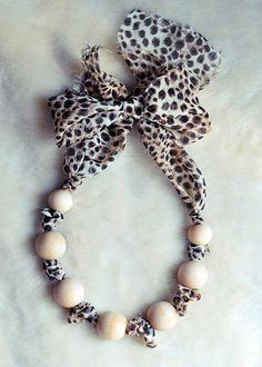 wood bead necklace leopard by ...love Maegan, via Flickr