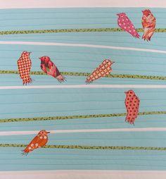 birds on wire quilt