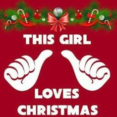 I actually loooooove Christmas!!
