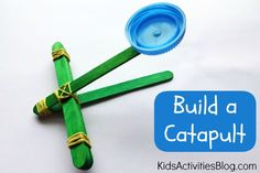 Easy {and Fun} Catapult for Kids to Make!