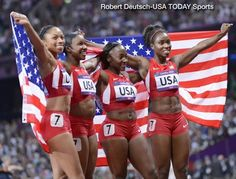 Wow! Impressive! USA women shatter the world record in the 4x100 meter relay