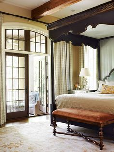bedroom in an Atlanta home, featured in Traditional Home Magazine.