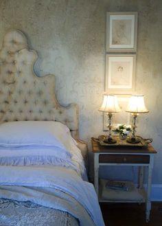 My bedroom 2009 as seen in Romantic Homes magazine.