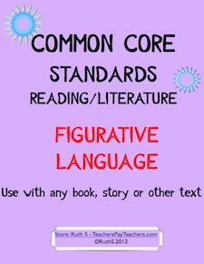 Common Core ready to print student worksheets for Figurative Language, that can be used with any book. Included are: similes, metaphors, personification, worksheets for each and a student friendly self assessment rubric, and posters. priced item