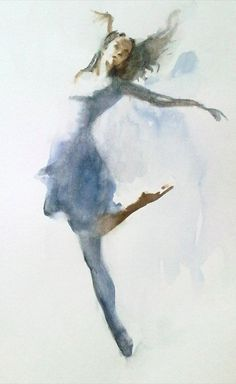 dancer in watercolor ..