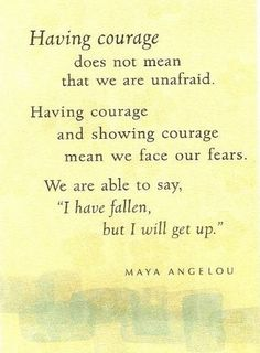 #Courage to face our #fears.