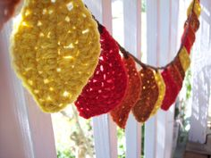 Crochet fall leaf garland  @Kristen Rothwell...could you make this?
