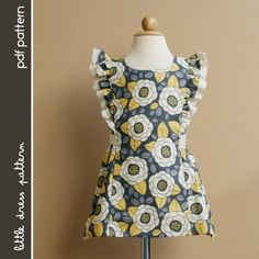 Anya Dress - PDF Pattern - Size 12 months to 8 years old and tutorial. on Etsy, $6.00