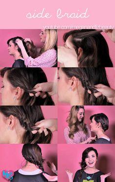 Check out our fun Side Braid Tutorial!! www.youtube.com/watch?v=EAZRtzF1Bgw <3 #meganandliz #style #hair #tutorial #braid #side #beauty #tips