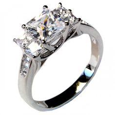 5 Stone Princess Cut Diamond Promise Ring