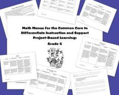 Differentiated math menus for the common core