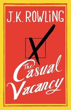 Behold, you muggles! A cover without a wand! It's the new JK Rowling book!