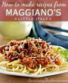 How To Make Recipes From Maggiano's! - Surviving The Stores™