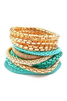 Turquoise Adette Bracelet Set.