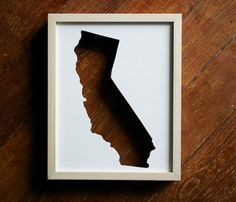State Cut Out Frames - put a map behind there for a cool art piece