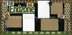 In The Endzone Scrapbook Page Kit [intheendzone13] - $7.99 :: Lotts To Scrap About - Your Online Source for Scrapbook Page Kits!
