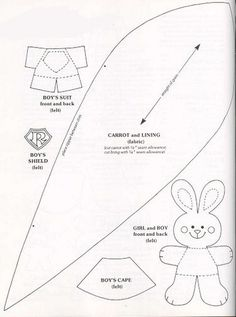 Bunny and carrot patterns