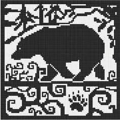 bear chart. BEAR CHART. i'm knitting a bear into every knitted thing i make.