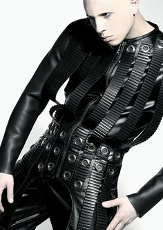 ANA RAJCEVIC 'Unhuman' 2009 - rubber and metal grommets -  pinned by RokStarroad.com ~ unleash your inner RokStar - fashion, pop and mental health