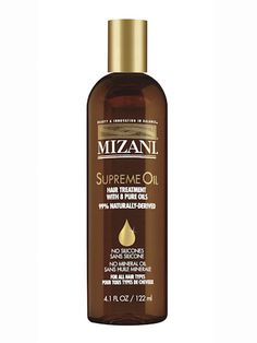 "Best for kinky, curly hair - Mizani Supreme Oil, $25 Heavy-duty oils like avocado and apricot make this formula ideal for the driest of hair types. We found that the teensiest bit goes a long way, so spread a little through damp hair, then dab just a touch on ends as needed. ""Just one drop helped my kinky curls air-dry completely frizz-free."" —Tiffany Blackstone, deputy editor"
