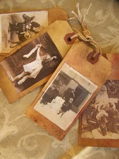 Vintage Photo Tags w/family photos - any occasion!