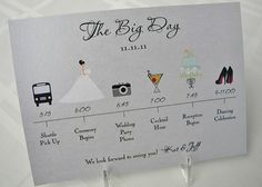 the perfect wedding program for a graphic designer's wedding